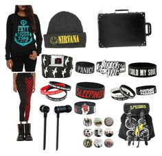 """Sold my soul for concert tickets"" by junoeclipse ❤ liked on Polyvore"