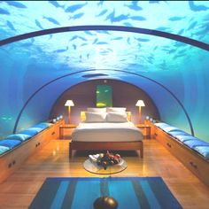 This Is Very Cool But Hopefully Jaws Wouldn T Swim By That Might Make You Have Nightmares Jazzy Elder Water Beds