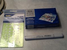 Amazon haul,winsor and newton cotman watercolor 12 pan pocket plus set,copic cool grey no.3 marker,and template
