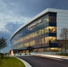 HOK porsche cars north america experience center and headquarters atlanta georgia designboom