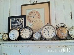 vintage clocks vignettes - Google Search