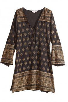 Inagua Block Printed Silk Dress | Calypso St. Barth