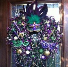 Mardi Gras Wreath for the door by abbyy