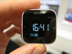 The Sony SmartWatch, the successor to the Sony Ericsson LiveView adds touch functionality to a wrist watch. Digital Alarm Clock, Smart Watch, Sony, Smartwatch