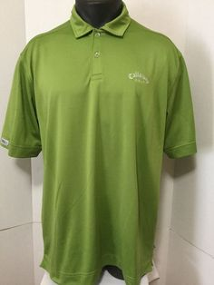 Callaway X Series Golf Men's Green Polo Shirt Short Sleeve Embroidered Logo XL #Calaway #PoloRugby