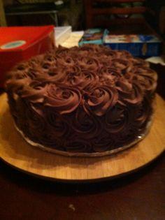 Chocolate rosettes