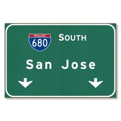 San Jose Interstate Sign Metal Wall Decor Automotive Road Travel Replica Souvenir Gift California Highway STEEL not tin 36x24 FREE SHIPPING by AmericanYesteryear on Etsy https://www.etsy.com/listing/230048919/san-jose-interstate-sign-metal-wall