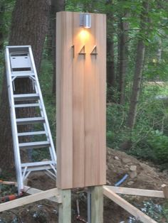 Concord House Renovation: The Monolith (Driveway/Address/Marker Light). Tuesday, August 2, 2011.