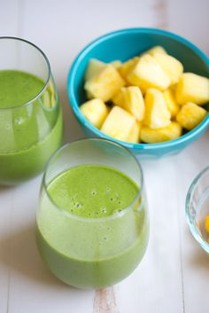 Tropical Kale Smoothie is packed with tons of healthy kale! Mango and pineapple add a bit of sweetness and tropical flavor and plain yogurt ...