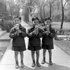 Triplet boys enjoying ice cream cones, May 1949 // Michael Rougier. Nothing special about the picture, but I've got triplet sons so I'm partial to the subject matter.