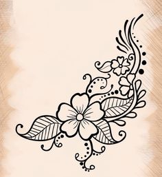 Henné fleur art henna designs, henna art и henna patterns Henna Drawings, Doodle Drawings, Easy Drawings, Doodle Art, Tatoo Henna, Henna Tattoo Designs, Henna Art, Mandala Tattoo, Embroidery Designs