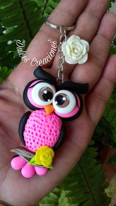 Beautiful Brightly Colored Owl Pendant