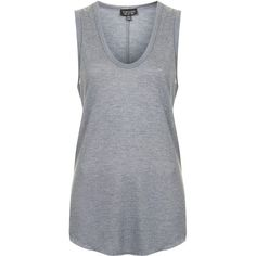 TOPSHOP U Neck Tank (19 AUD) ❤ liked on Polyvore featuring tops, topshop, grey marl, grey tank, grey top, gray tank and gray top