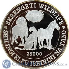 1998 Tanzania 1 Kilo Proof Silver Serengeti Wildlife Coin - With Box & COA http://www.gainesvillecoins.com/category/710/african-and-middle-east-silver-coins.aspx