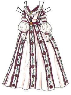Three More 1800s Dresses from Liana's Paperdoll Boutique | Liana's Paper Dolls