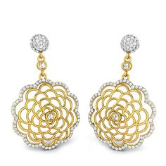 GLEAMING PETALS DIAMOND EARRINGS