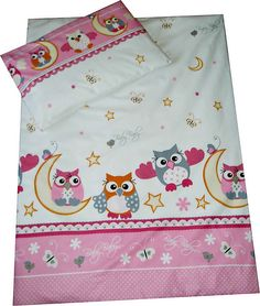 7887068008 Children s 100% Cotton Pink Owls Duvet Cover - Available now on Becky  amp   Lolo