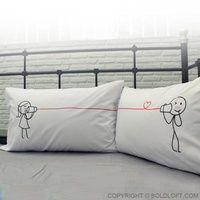 Say I Love You Too Couple Pillowcases