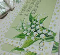 Lilies of the Valley Vintage Bridal Shower Invitations....