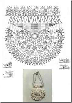 Crochet patrones gratis bolsos Ideas for 2019 Crochet Rings, Bead Crochet, Crochet Motif, Irish Crochet, Crochet Designs, Crochet Lace, Crochet Stitches, Crochet Handbags, Crochet Purses