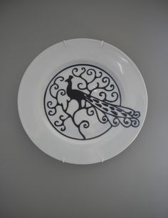 i did say i wanted a cool plate wall... i'd say this one fits the bill