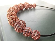 Wire Wrapped Copper Necklace Wire Wrapper by LovePotionDesign, €90.00