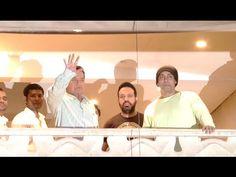 Salman Khan greets fans EID MUBARAK 2016 from his home Galaxy Apartments.