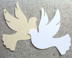 Image result for como hacer palomas de la paz en cartulina