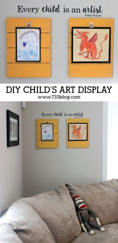 DIY Child's Art Display Project Idea