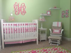 Baby girl Lilly Pulitzer inspired nursery