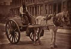 'The Water-Cart' 1877-1878, from 'Street Life in London'.