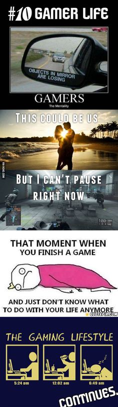 Examples of The Life Of A Gamer,lol Video Game Logic, Video Games Funny, Funny Games, Bioshock, Beste Comics, Video X, Game Quotes, Fallout 3, Dc Memes