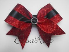 Classy Glitz Glitter Cheer Bow in Red and by desarosebowtique Christmas Hair Bows, Christmas Diy, Merry Christmas, Sparkly Cheer Bows, Baby Girl Hair Accessories, Cheerleading Bows, Making Hair Bows, Diy Bow, How To Make Bows