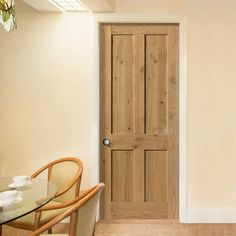 Rustic Oak Shaker 4 Panel Prefinished Door. #perioddoor #internal-door #rusticdoor