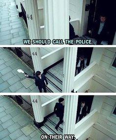 Sherlock logic: Shoot gun in air to contact police