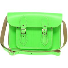 "Cambridge Satchel Company 11"" Satchel ($174) ❤ liked on Polyvore featuring bags, handbags, purses, borse, bolsas, satchel handbags, man bag, green handbag, handbags purses and leather hand bags"