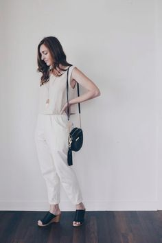 Elizabeth Suzann Petra crop top and Clyde work pants