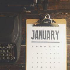 DIY: free 2015 calendar - simply download, print, and hang!