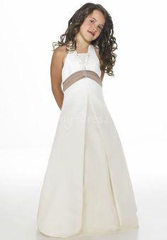 93f1256c6 Satin A-line,Band,Halter Style 21 Junior Bridesmaid Dress by Alexia Designs