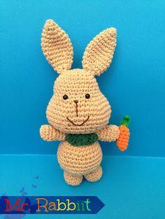 Mr. Rabbit Amigurumi ~ Patrón Gratis en Castellano
