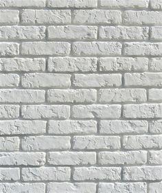 "DEKORATYVINIS AKMUO ""RETRO BRICK WHITE"" (BETONAS) Brick Interior, Decorative Tile, White Stone, New Room, Tile Floor, Tiles, Flooring, Retro, Wall"