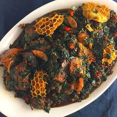 Efo riro is one of the popular vegetable soups in Nigerian. It ranks with the likes of Afang and Edikaikong. While Efo riro is native to the Yorubas, Edikaikong is native to the Efiks and Ibibios. Efo riro is a very delicious dish and if you haven't had it before, do try our recipe here and enjoy yourself. Haba you can't be missing such delicious