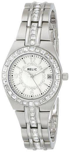Relic Women's Analog Display Analog Quartz Silver Watch - Jewelry For Her Amazing Watches, Beautiful Watches, Cool Watches, Relic Watches, Women's Watches, Wrist Watches, Citizen Dive Watch, Rose Gold Watches, Jewelry For Her