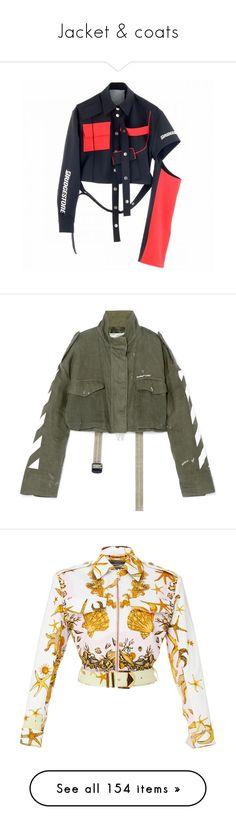 """Jacket & coats"" by yonceb ❤ liked on Polyvore featuring outerwear, jackets, tops, coats, coats & jackets, polka dot jacket, cropped linen jacket, letter jacket, striped jacket and zip jacket"