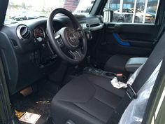 2016 Wrangler Unlimited stock interior view from driver side front door Wrangler Unlimited Sport, 2016 Jeep Wrangler, Interior Design Colleges, Chrysler Dodge Jeep, Fender Flares, Led Light Bars, Car Seats, Collection, Interiors