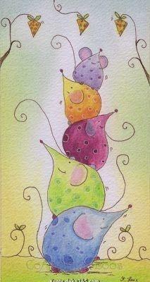 …art journal -ideas, pages… Aquarell vorzeichnen in verschiedenen Varianten Watercolor Sketch, Watercolor Cards, Watercolor Paintings, Drawing For Kids, Art For Kids, Art Fantaisiste, Blog Art, Mouse Crafts, Happy Paintings