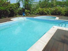 Pool side at Golden Grove House