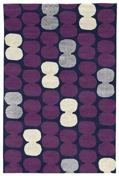 Judy Ross Hand-Knotted Custom Wool Tabla Rug midnight/aubergine/cadet silk/parchment silk