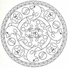 Mandala Coloring Pages Printable. Collection of Mandala coloring pages. You can find mandala images to color, from easy to hard. Mandalas Painting, Mandalas Drawing, Mandala Coloring Pages, Animal Coloring Pages, Colouring Pages, Coloring Books, Zentangles, Kids Printable Coloring Pages, Free Coloring Sheets