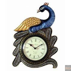 Multi-Colored Handcrafted Peacock Wall Clock₹1,750